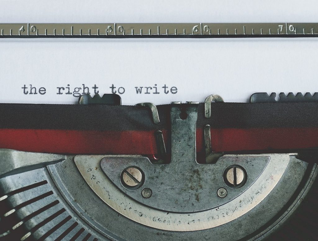disclaimer, the right to write